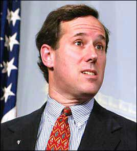 Rick Santorum, defender of NOM.