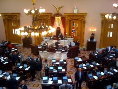 The Ohio House of Representatives, preparing to take up consideration of H.B. 176, the Equal Housing and Employment Act.