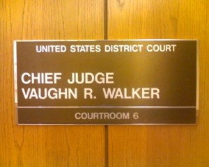 Judge Walker is hearing the challenge to Proposition 8.
