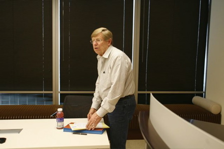 Attorney Ted Olson prior to the start of the Proposition 8 trial. (Photo by Diana Walker via AFER.)