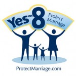 The &quot;Yes on 8&quot; logo.